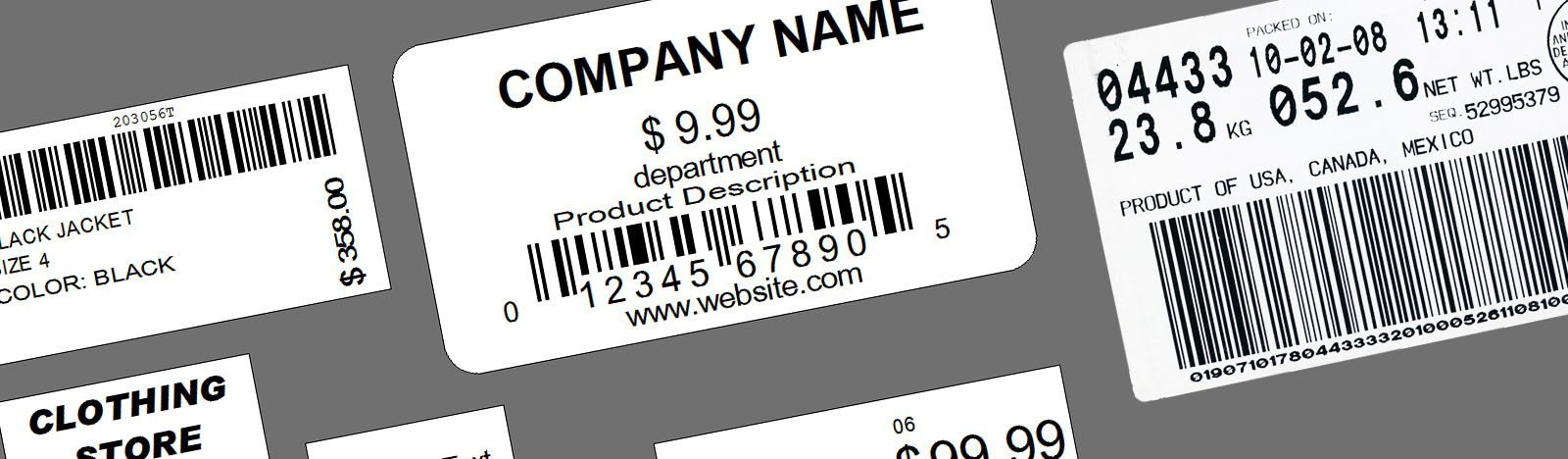 Variable Data Barcode Number Sticker Labels