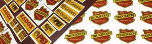 Custom printing Yellow reflective vinyl labels
