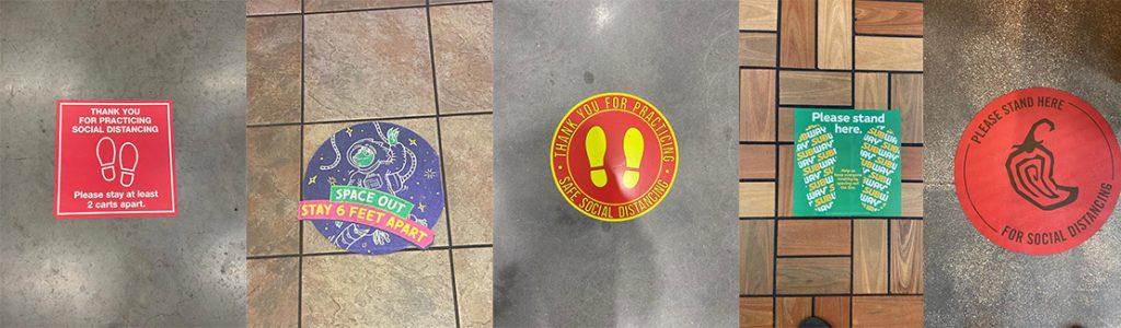 Social Distancing Floor Stickers Banner