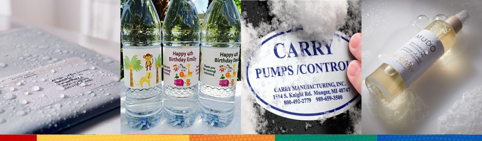 Waterproof Labels and Waterproof Stickers