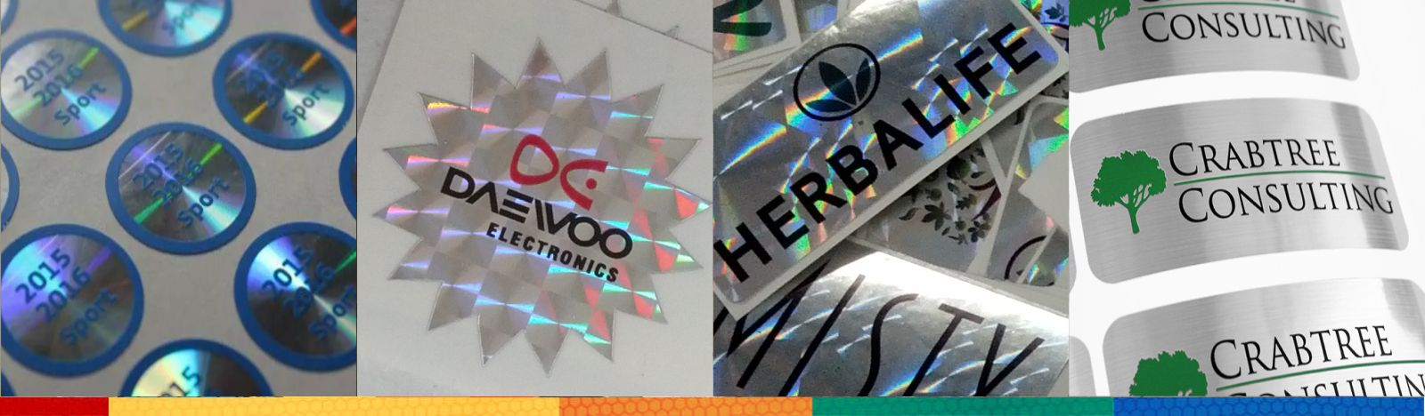 Hologram stickers - Holographic stickers - Foil Stickers - Multicolor Labels