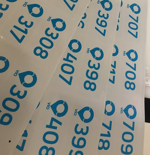 Number Stickers Shipping to North America