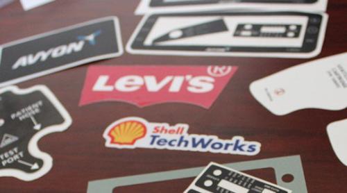custom Brand Logo Stickers For Order
