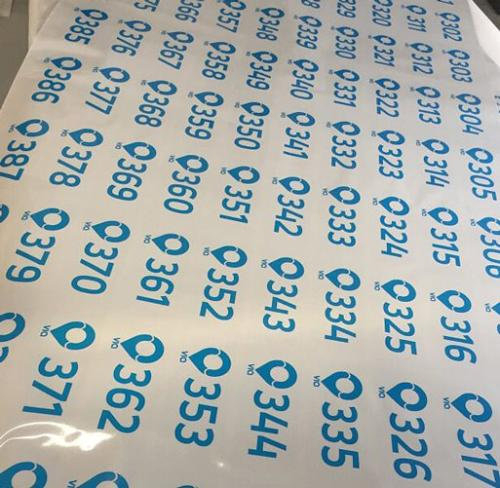 Custom Numbered Stickers Multicolor Labels