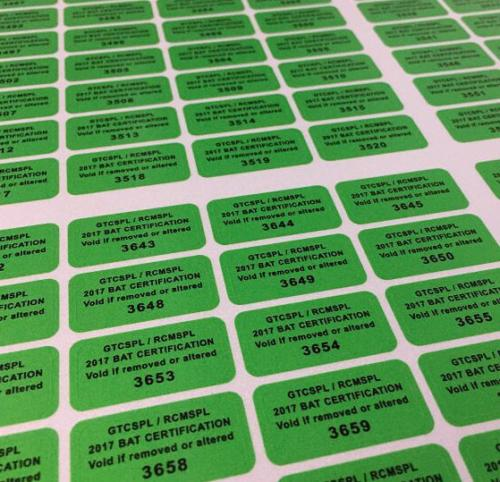 Custom Number Stickers Shipping to California