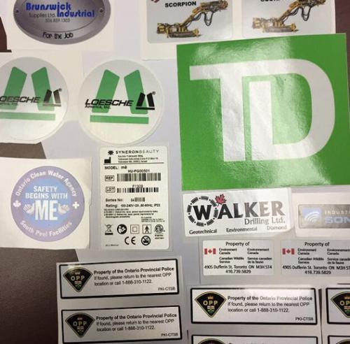 Sticker Reflective Multi Color Labels