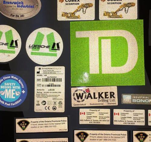 Custom Reflective Stickers Multi Color Labels